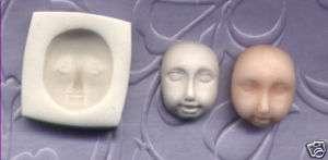 Handmade Polymer Clay Mold Little Girl Doll Face