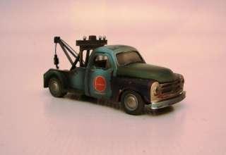 is custom 164 studebaker tow truck, junkyard truck, weathered used