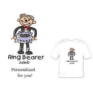 Custom Personalized Ring Bearer Shirt cartoon Great Bridal