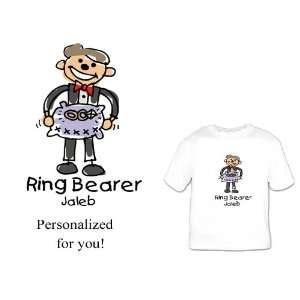 Custom Personalized Ring Bearer Shirt cartoon Great Bridal