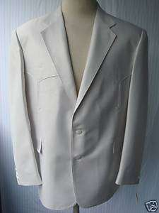 48R New Mens Western Wear Sport Coat Arctic Gray 48R