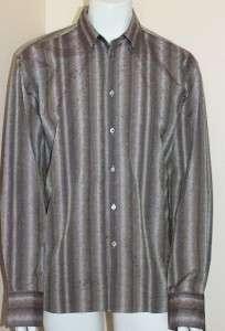 225 Ted Baker London Long Sleeve Cotton Shirt US Size XL , M Europe