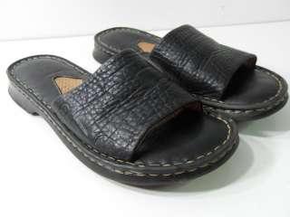 Womens 6/36.5 Black Slides Clogs Open Toe Sandals Dress Shoes