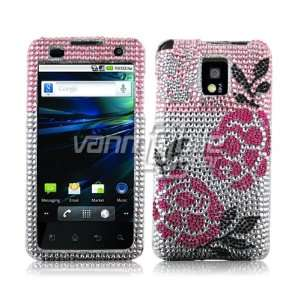 Roses Rhinestones Protector Case for T Mobile G2x