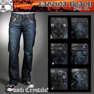 Laguna Beach Jeans Mens WAX denim HERMOSA CRYSTALS