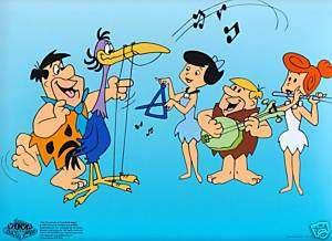 THE FLINTSTONES SERICEL Fred Play Harp Hanna Barbera