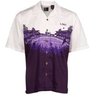 LSU Tigers Purple White Stadium Resort Full Button Camp