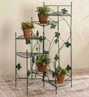 Metal Plant Stand Planter Cart Basket Staircase Bicycle Tiered Flower
