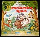 THUMPERS RACE Illustrated Book & 33 RPM Record Set   Disneyland