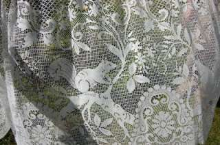VTG FReNCH Net CuRTaiN VaLaNCe LaCe CRoCHeT / BiSTRoT CaFe CouNTRy