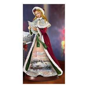 THOMAS KINKADE 01 09701 003 Christmas Caroling Musical Figurine MERRY