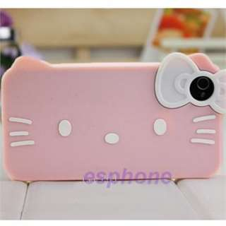 Red White Hello Kitty Silicone Soft Back Case Cover for iPhone 4 4G 4S
