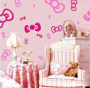 bowknot Charming Children Bedroom decor wall decal sticker Vinyl