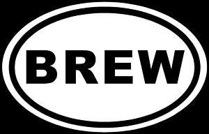 BREW Sticker Beer Keg Meister Funny Vinyl Decal Laptop