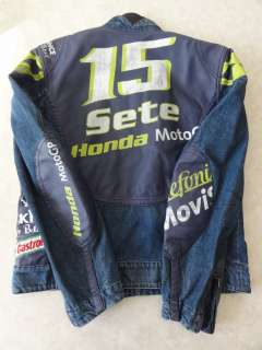 BELSTAFF Denim Leather Racing Jacket Made in ITALY size M
