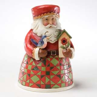 Jim Shore Heartwood Creek Christmas Figurine   Small Santa with