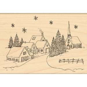 Penny Black Rubber Stamp, Village Christmas   899360