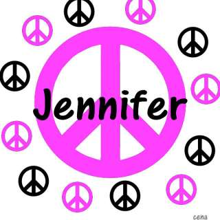 Peace Sign Set Personalized Wall Decor Decal Vinyl PS4