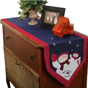 New England Patriots Snowman Table Runner Sports