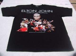 ELTON JOHN rocket man 2008 tour LARGE concert T SHIRT
