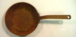 Antique Early Cast Iron Cooking Skillet Frying Pan