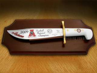 CASE 09 Alabama Football Champions White Bowie Knives