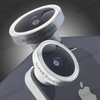 185° Degree Fish Eye Wide Angle Lens for iPhone 4 4S Mobile Phone