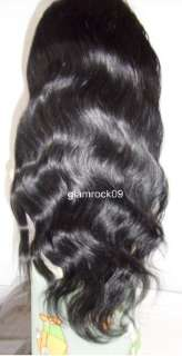 Full Lace Cap 100% Indian Remy Body Wave Wig 22 Wavy