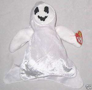 White Ghost Beanie Baby Ty Sheets October Teddy Bear