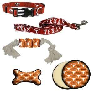 Texas Longhorns Dog Collar, Lead, & Toy Gift Set Pet