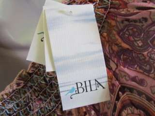 BILA New Purple Embellished Beaded Tunic Shirt Top Blouse Womens S