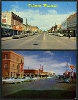 MONTANA 4 Postcards Butte Kalispell Shelby Billings STR