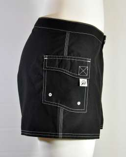 NEW LADIES KELLY LOW RISE BLACK BOARD SHORTS R71641