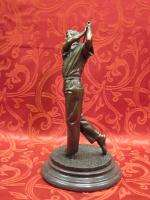 Art Deco Bronze Sculpture Statue Figure Golf Player NR