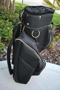 BURBERRY GOLF CART BAG BLACK NOVA CHECK PLAID ACCENT RARE LADIES