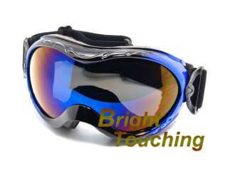 New Black&Blue Snowboarding Snow board Skiing Ski Goggles Dual Anti