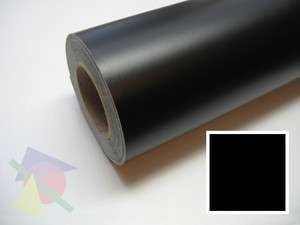 Matte Black Flat Black Vinyl Graphics Decal Sticker Sheet Roll 24