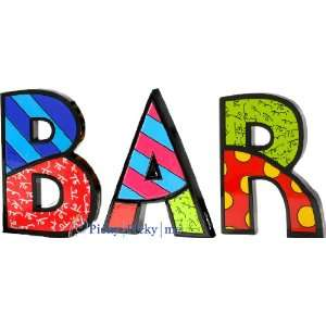 BAR Word Art for Table Top or Wall by Romero Britto