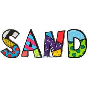 SAND Word Art for Table Top or Wall by Romero Britto