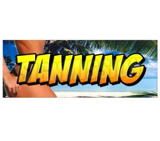 TANNING  Window Decal  beauty salon tan spa sign signs sticker bed