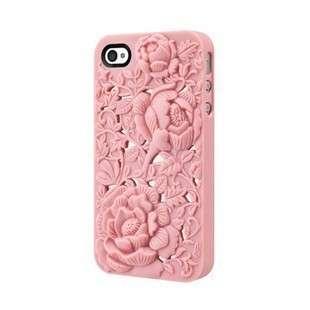3D Sculpture Design Blossom Rose Flower Hard Plastic Cover Case iPhone