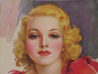 JULES ERBIT PIN UP GLAMOUR GIRL ADVERTISING INK BLOTTER