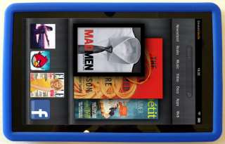 NEW Kindle FIRE BLUE Silicone Gel Skin Case Cover 3G Wifi   QUICK SHIP