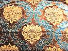 dw04 per meter gold blue embroider velvet sofa cushion cover