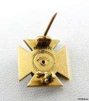 PHI KAPPA SIGMA   fraternity 14k Gold Skull Cross PIN
