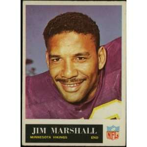 Jim Marshall Minnesota Vikings 1965 NFL Football Trading