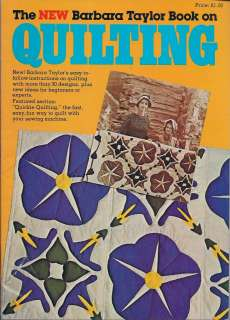 Quilting Magazine  Barbara Taylor Book  ( Not Dated )