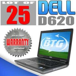 Wholesale Bulk Lot of 25 Dell D620 Laptop Computer Dual Core 1.8GHz