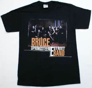 SPRINGSTEEN E Street Band T Shirt Black Rock & Roll Music NWOT