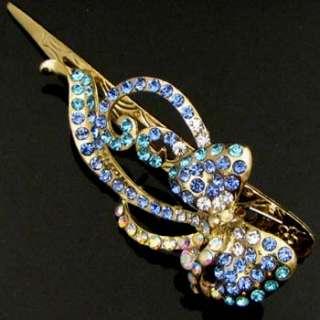 , 1pc Austrian rhinestone crystal bow tie hair clamp cli